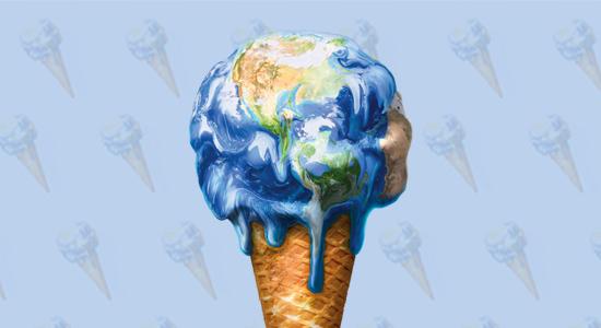 Melting globe responsible investing