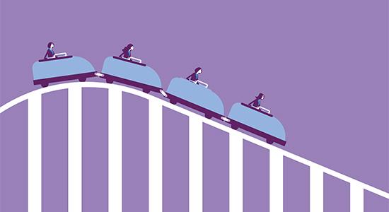 Roller coaster economy