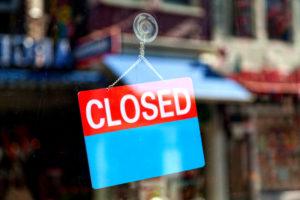 Consumer businesses closed