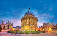 Elevated view of Radcliffe Camera, Bodleian Library, Oxford University, Oxford, Oxfordshire, England, UK.