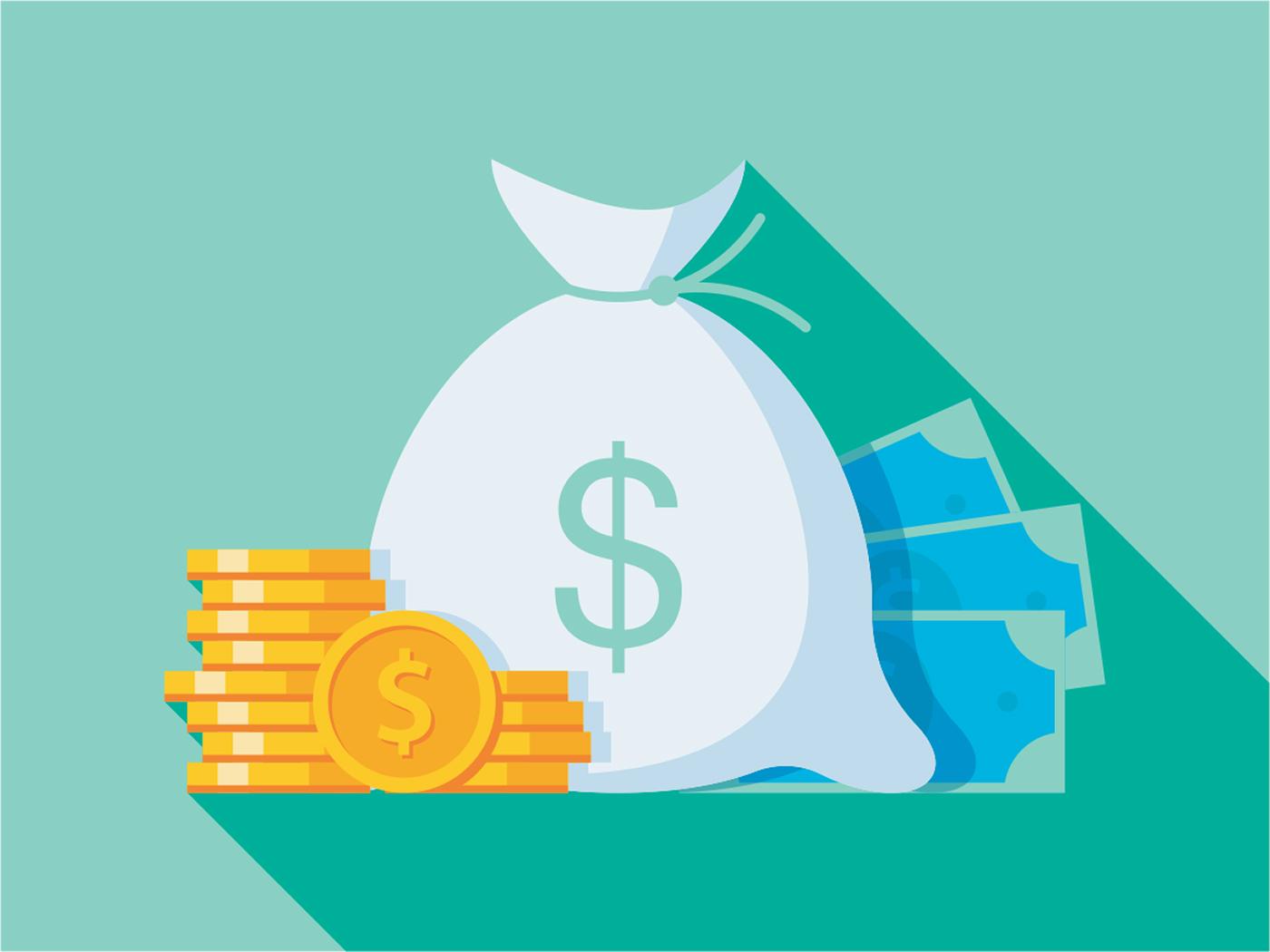 An illustration of money