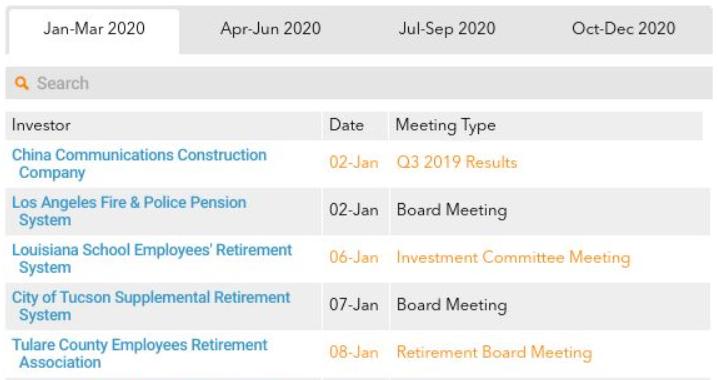 Agri Investor Calendar - online