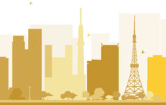 Tokyo silhouette illustration