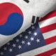 US and South Korea flags