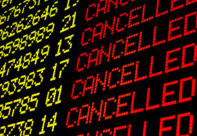 Travel disruption from coronavirus