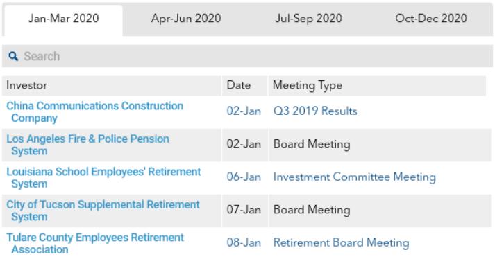 PDI Investor Calendar - online