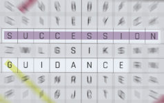 A blurred image of a word search