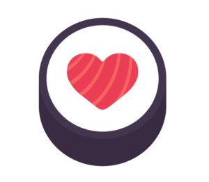 Sushi love heart