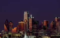 Dallas skyline, night
