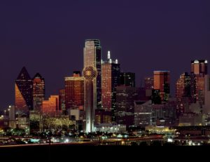 Dallas skyline, night