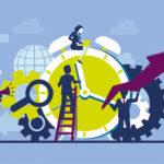 Clock cog illustration