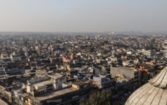 A view of New Delhi rooftops from the Jama Masjid