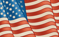 Vintage American Flag covid and starts