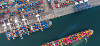 Cargo/freight docking at terming. Import/export