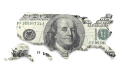 US Map Dollar Currency