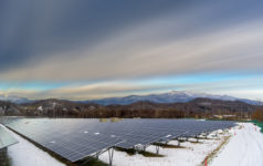 solar power in the snow