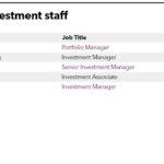 Key investment staff for Ping An Asset Management