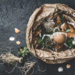 Food waste in paper bag