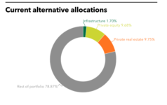 NMSIC's current alternative allocations.