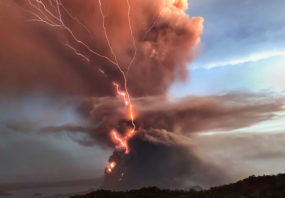 Taal Volcano eruption in Philippines