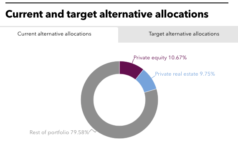 New Mexico SIC's current and target alternative allocations.