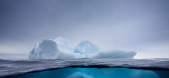 Iceberg ice water