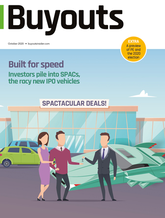 Cover of October 2020 issue of Buyouts
