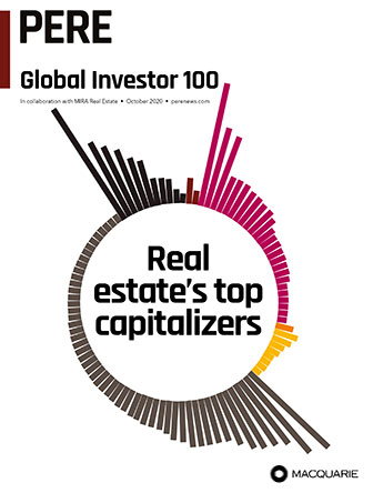 Cover of PERE's Global Investor 100 magazine