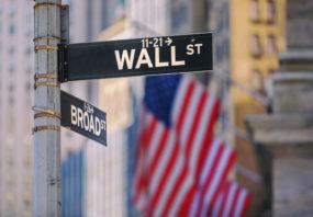Wall Street sign, New York