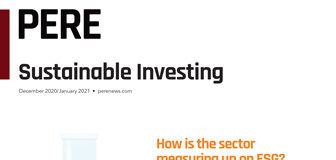 Cover of PERE's Sustainable Investing supplement