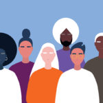 Illustration of people of different races