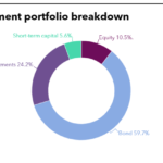 Chart of Construction Workers Mutual Aid Association investment portfolio breakdown
