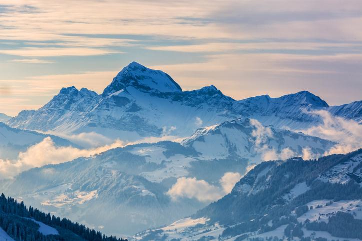 mountains, snow, ski, Mont Blanc, France