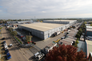 Blackstone bound: this Bedford logistics property was among those sold by Clearbell for £45m