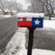 Texas snow mailbox