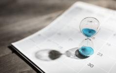 hour glass calendar countdown