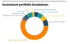 Cathay Life Insurance's Investment portfolio breakdown