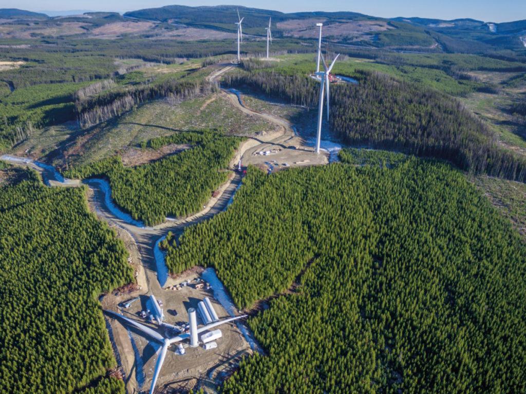 Okanagan Wind platform in British Columbia