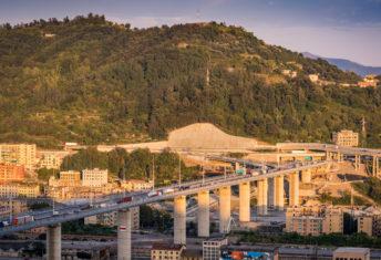 The new Genoa Bridge (aka San Giorgio) replacing Morandi Bridge
