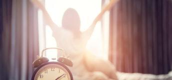 alarm clock waking up