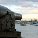 Cannon pointed at Melbourne, Australia