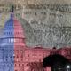 US Congress Capitol bipartisan colors
