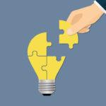 Lightbuld jigsaw puzzle idea