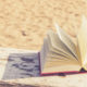 Open book at the beach.