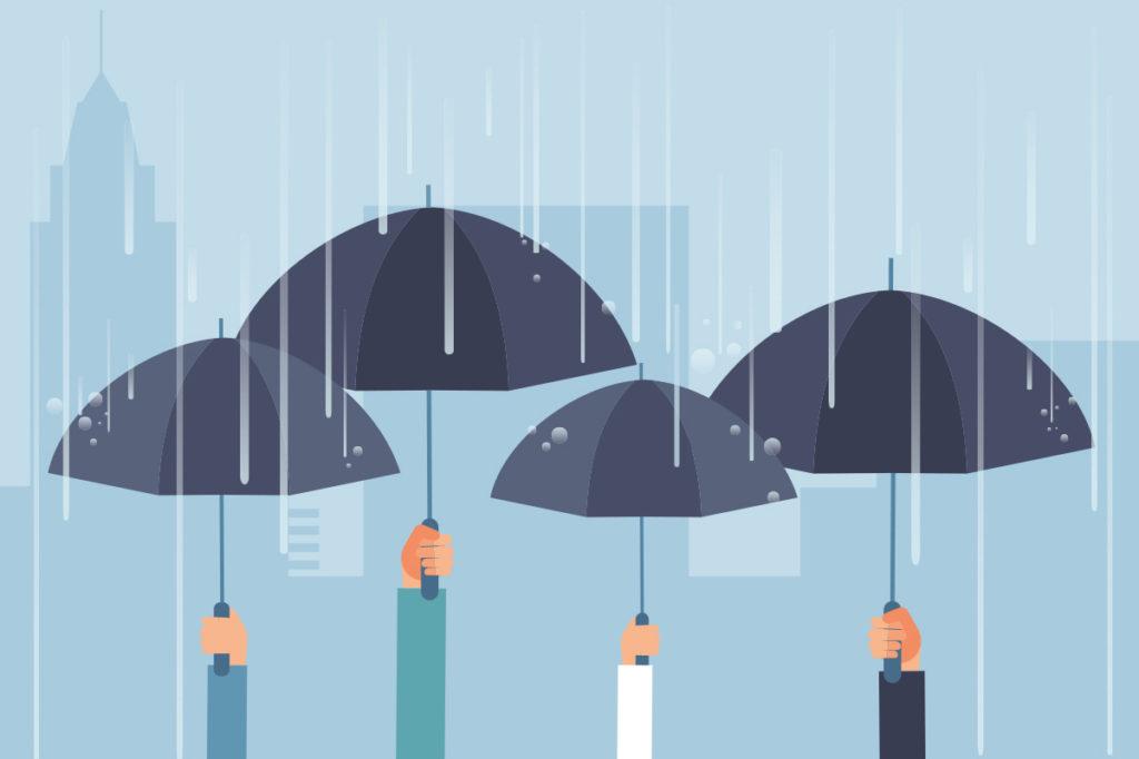 Rain umbrella cover