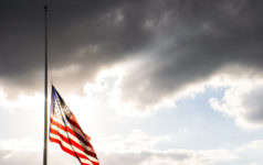 American Flag Half-Mast