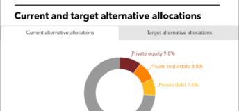 TCRS current vs target alternative allocations
