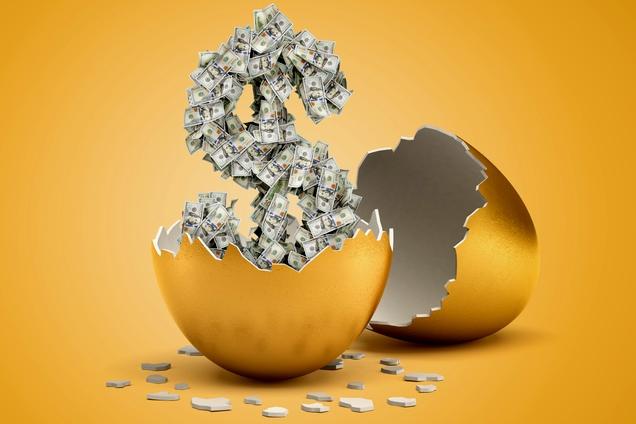 money hatching egg